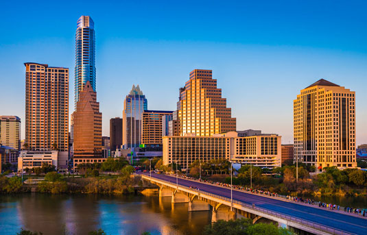 Skyline of Austin, Texas, home of Scion Austin Creative Staffing
