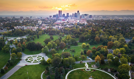 Skyline of Denver, Colorado, home of Scion Colorado Creative Staffing