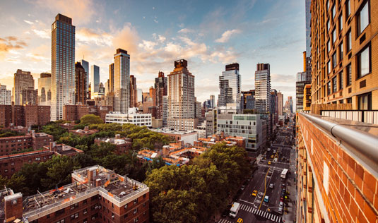 Skyline of New York City, New York, home of Scion New York Creative Staffing
