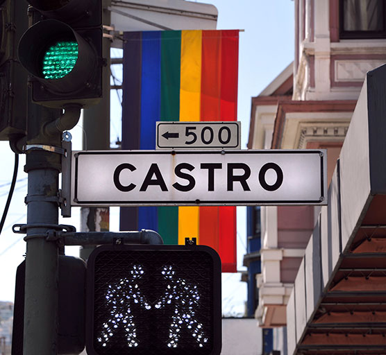 Image of street sign that says Castro (from San Francisco)