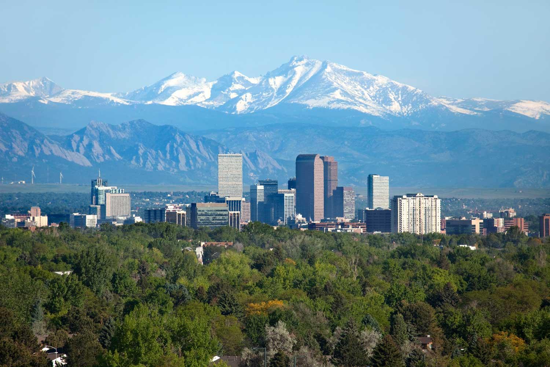 Image of Denver Colorado City Skyline