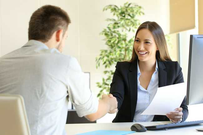 Human Resource Jobs Image of Interview and people shaking hands