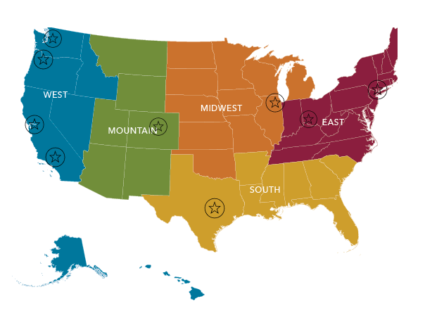 Staffing & Recruiting Regions of Scion Staffing
