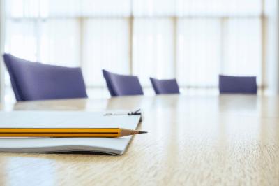 Board of Directors room empty