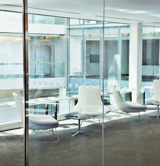 Executive Search Firm Office with open chairs and windows