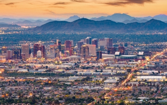 staffing phoenix, view of the city